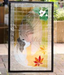 ステンドグラスパネルのガラスチェック