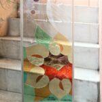 卒業記念寄贈用のステンドグラスパネル